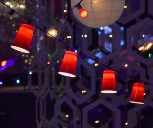 Red Party Cup String Lights Office Gifts