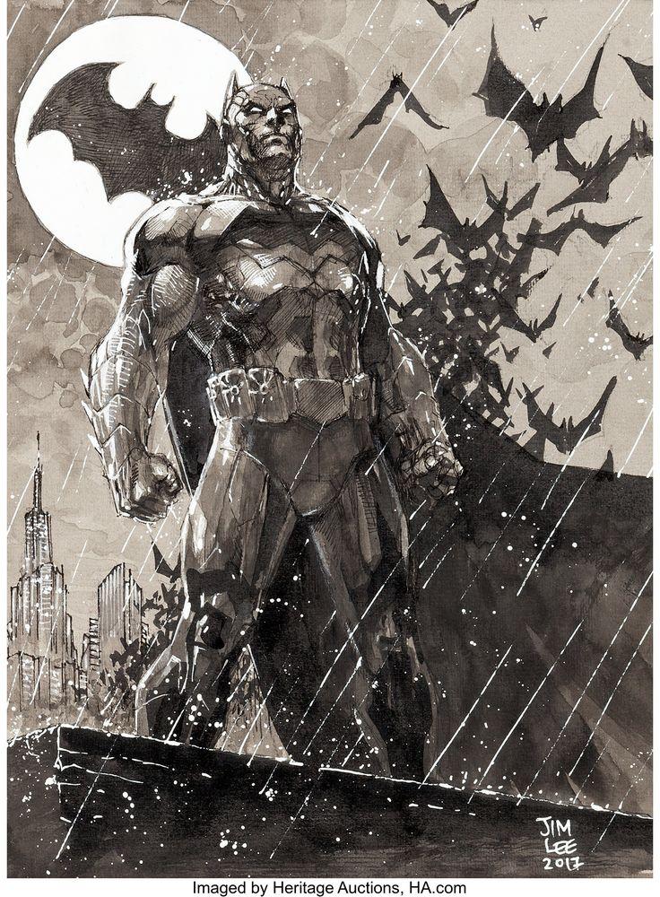 Jim Lee – Batman Portray Unique Artwork (DC, 2017)…. Unique | Lot #93160 | He…
