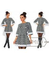 Платье из жаккарда с геометрическим принтом