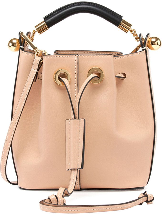 Chloe Gala Small Leather Bucket Bag, Nude | Hand Bags | Pinterest ...