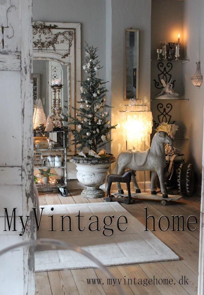 1324 best images about rustic christmas french style on for Table de noel shabby chic