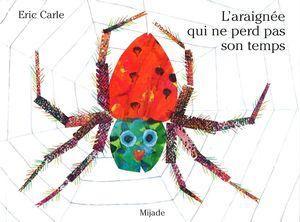 3199700095713 L'araignée qui ne perd pas son temps. Réédition. Rien ne peut distraire l'araignée qui tisse sa toile, ni le cheval, ni la vache, pas plus que le chien ou le chat... -- Des collages naïfs de surfaces peintes dans des coloris vifs et gais animent cet album présentant diverses espèces animales de la ferme. [SDM]