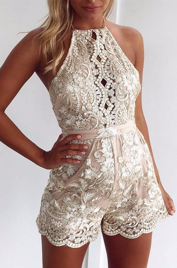 summer trends embroidered romper