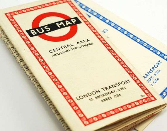 Hey, I found this really awesome Etsy listing at https://www.etsy.com/listing/169067615/vintage-1961-london-bus-map-central-area