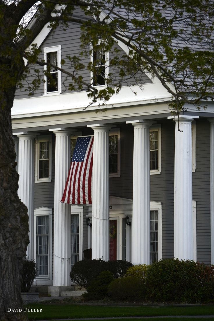 257 best greek revival houses images on pinterest for Exterior painting wilmington ma