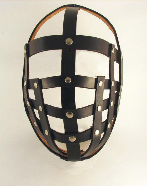 leather bondage helmets