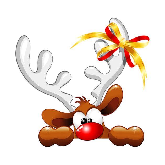 Funny Christmas Reindeer Cartoon by bluedarkart ...