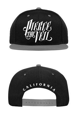 Pierce The Veil | Merch Store - PTV Logo Snapback (Grey/Black)