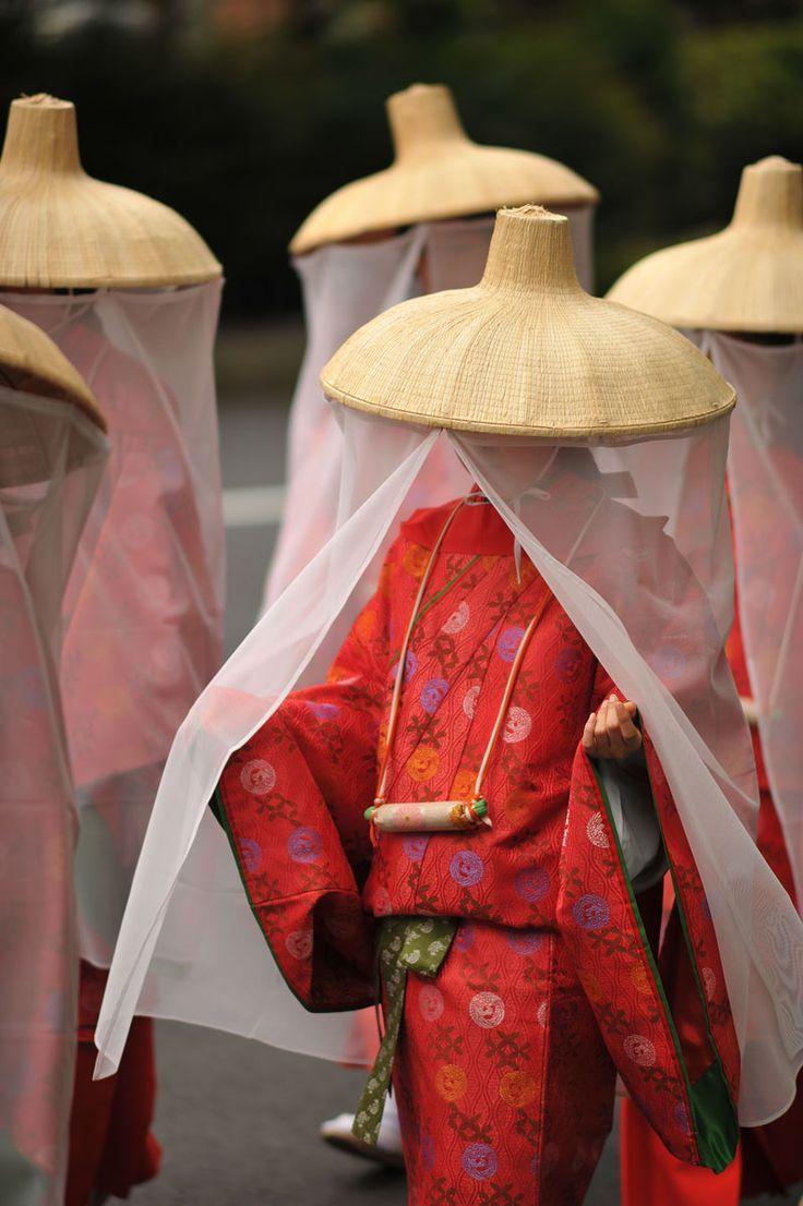 veiled Sannou Matsuri beauties, Japan