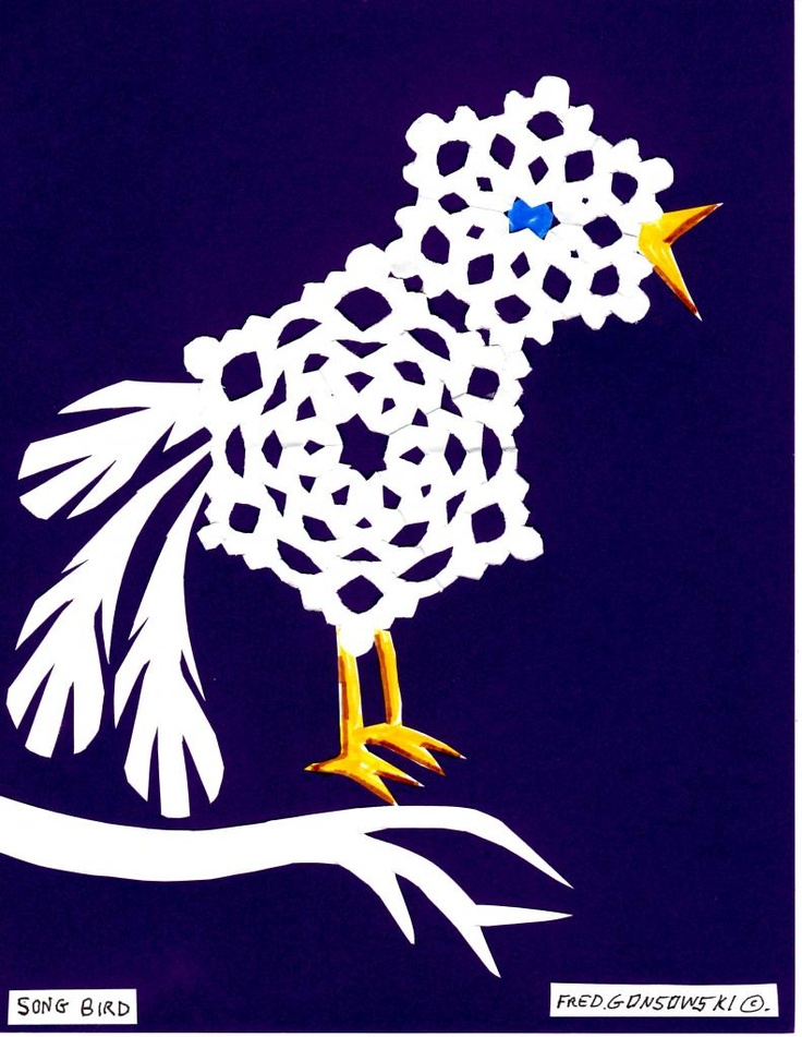 Make some Animals from Cut Paper Snowflakes.....there's gotta be a children's book to go with this!