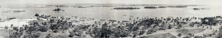 1951 - Miami shoreline with Bayfront Park in the foreground