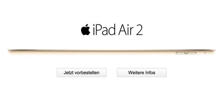 iPad Air 2 bei Telekom vorbestellen - https://apfeleimer.de/2014/10/ipad-air-2-bei-telekom-vorbestellen - Das iPad Air 2 kann ab sofort auch bei Telekom T-Mobile bestellt werden! Wie bereits auf unserer Übersicht zum neuen iPad Air 2 mit Vertrag angekündigt, hat die Telekom die iPad Air 2 Vorbestellung nun gestartet. Das neue Apple iPad Air 2 kann in den Farben gold, silber und natürlich spacegrau mi...