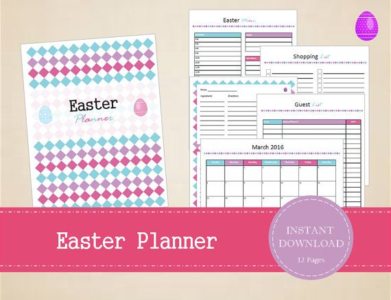 Printable Easter Planner Kit with 12 pages  by MBucherConsulting
