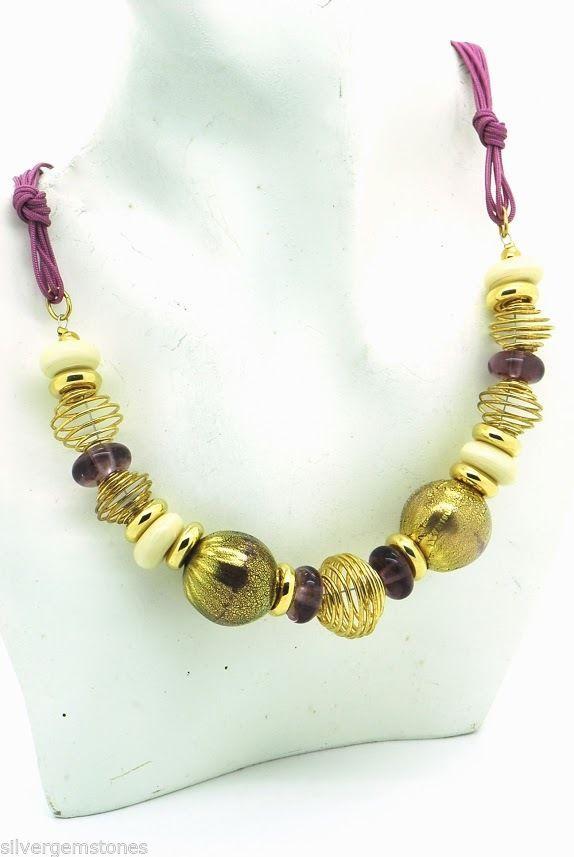 Italian Venetian Murano Glass Necklace Genuine Murano Made in Italy- SALE