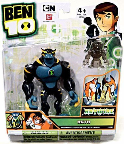 """Ben 10 Ultimate Alien 4"""" Action Figure Rath Haywire Includes Minifigure by Ben 10. $26.26. Blister card packaging. Disc-shaped alien hero works with Disc Alien Ultimatrix. Articulated 4"""" figure. Comes with a disc-shaped alien hero or accessory. From the Manufacturer                Each Ben 10 4"""" articulated Ultimate Alien comes with a disc alien or accessory. Use the disc alien with the Disc Alien Ultimatrix and watch your favorite alien heroes appear.                   ..."""