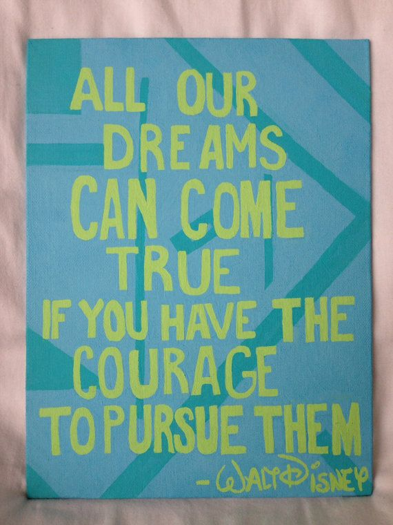 Canvas Quote Walt Disney by sparklesome on Etsy, $16.00
