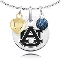 Auburn Heart & Crystal Necklace