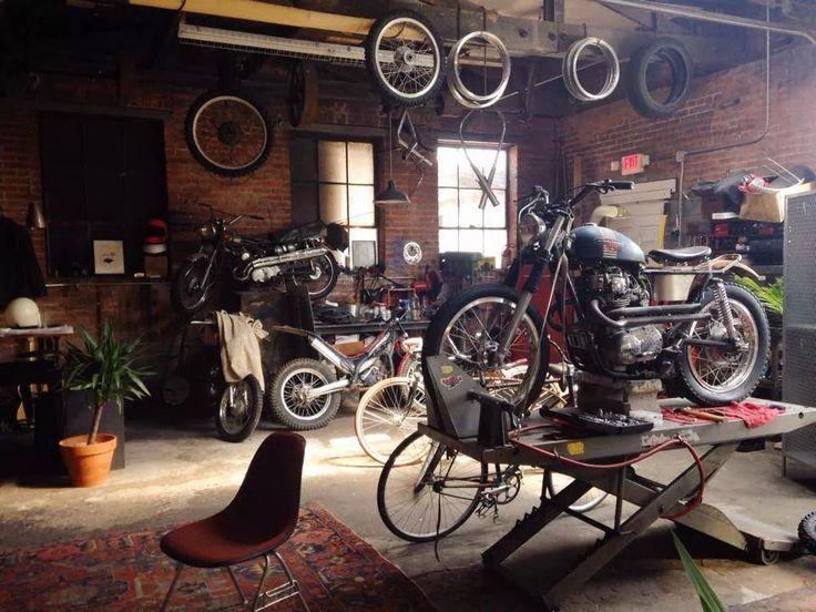 Garage via Facebook - Pin by Corb Motorcycles #motos #motorcycles…