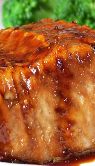 Bourbon Glazed Salmon  Bake this in the oven and serve with Roasted Asparagus; it also pairs well with Broccoli or Saute' Spinach.