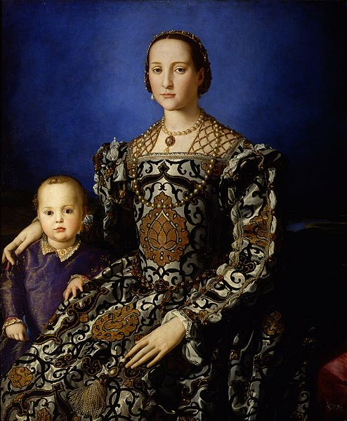 Portrait of Eleanor of Toledo and Her Son - 1545 - Florence - Uffizzi