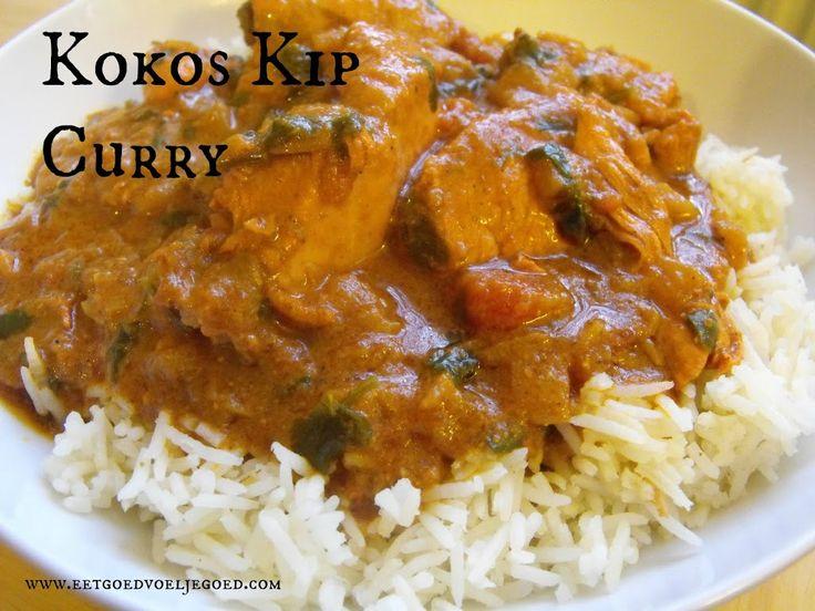 Comfort Food: Kokos Kip Curry | Een heerlijke, milde curry op basis van kokos en geurige specerijen. Geen uitgebreide voorbereiding nodig, gewoon lekker!