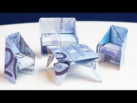 GESCHENK zum Einzug: Tisch aus Geld falten – YouTu…