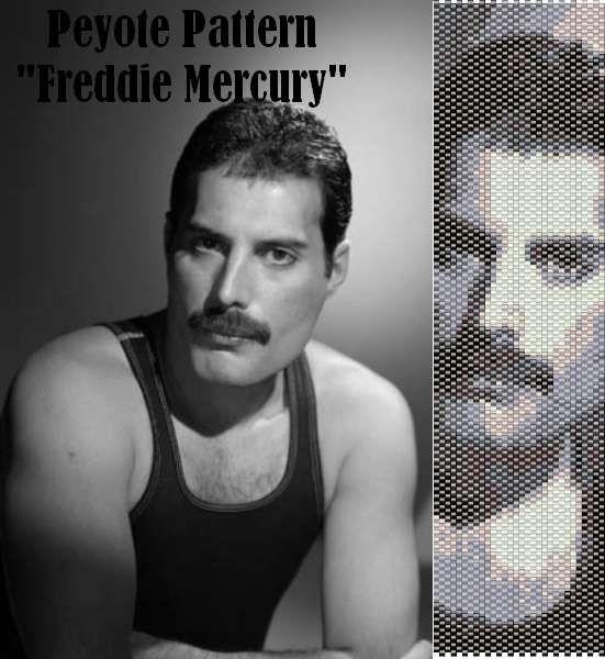 Peyote pattern for bracelet cuff Freddie Mercury di LePCCdiMeri, €2.10