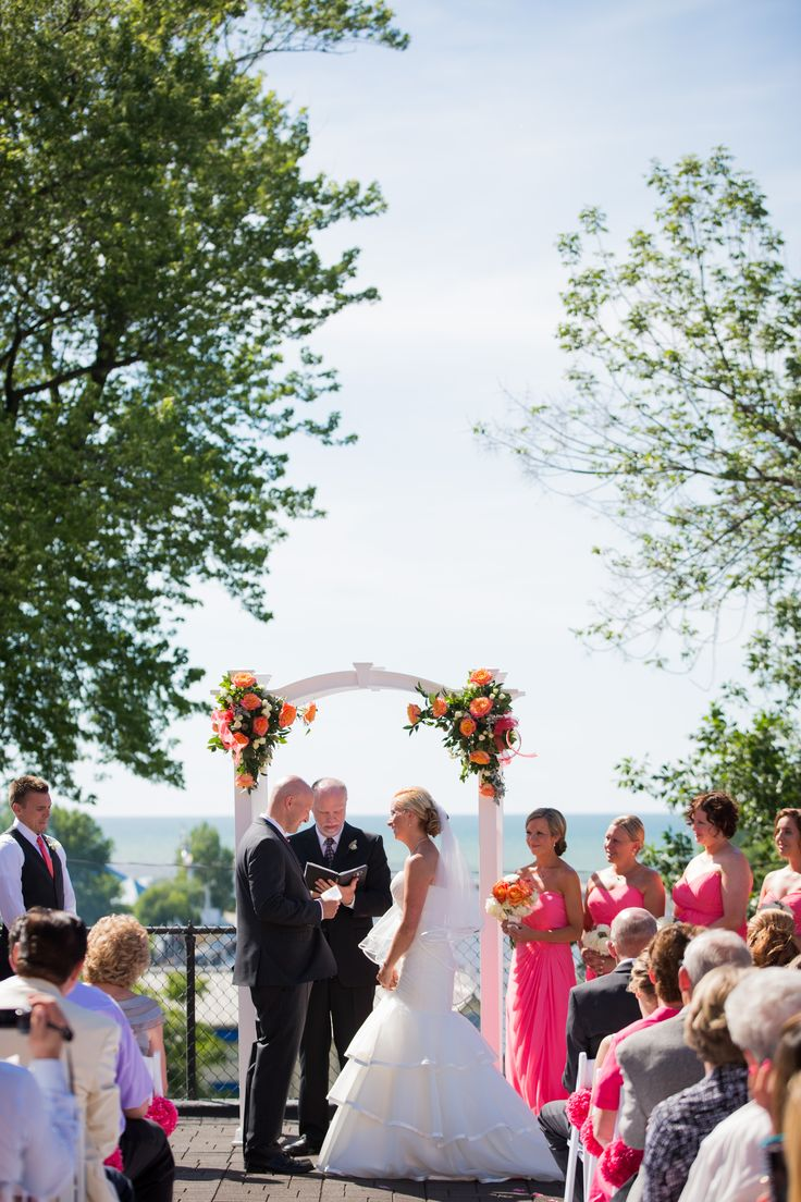 Jackie Andy S Rooftop Wedding In St Joseph Michigan 1928weddingplanners Real Weddings Pinterest And