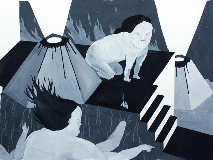 Hell by Marthe Jung #art #artist #painting #drawing - Beauton Art Gallery - http://beautonart.com | http://beautonart.dk