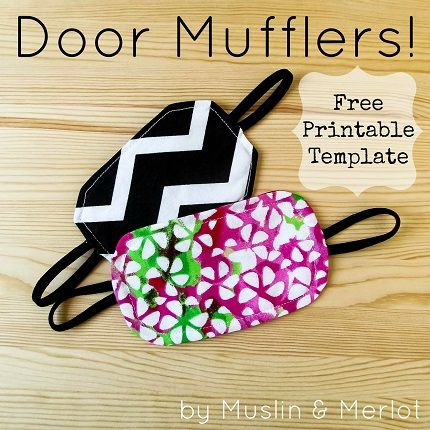 "Tutorial: Door muffler. [Very easy to follow. I made with an ""extra"" receiving blanket to make a coordinated gift basket.]"