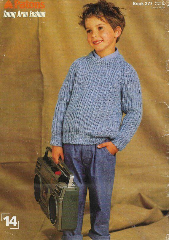 8a1c5a32d Boys Fisherman Rib Knitting Pattern Boys Sweater Jumper Knitting ...