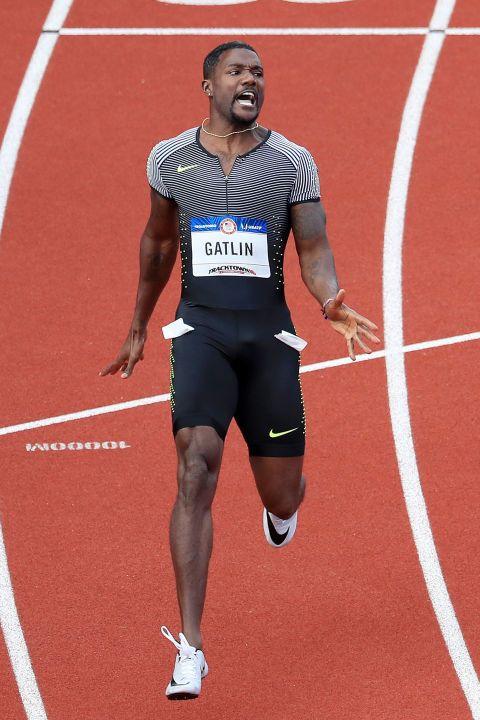 Justin Gatlin at the 2016 Team USA Olympic trials.