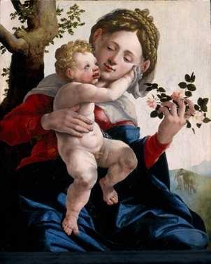Jan van Scorel, Madonna met wilde rozen, ca. 1530