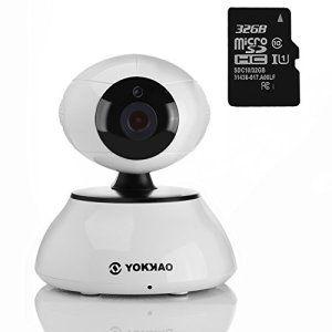 Caméra IP, Yokkao® KK001 Bébé Caméra de surveillance Wifi Pan/Tilt d'intérieur haute Définition HD 720 P Capteur CMOS Compression vidéo…