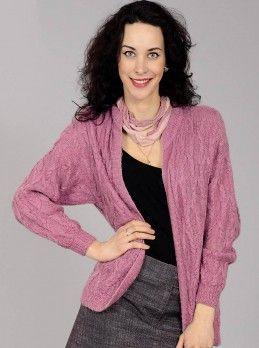 Giacca con le trecce #maglia #giaccaaiferri #puntoperilbordo #puntotreccia #lavoroamaglia #schemigratis Taglia: 44