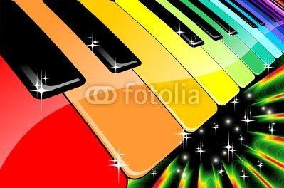 Rainbow Keyboard Music Party © bluedarkat