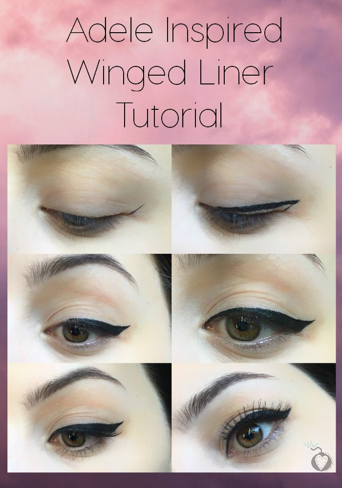 adele inspired winged liner tutorial