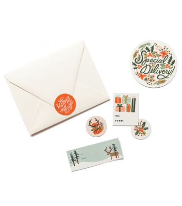rifle paper co. holiday stickers