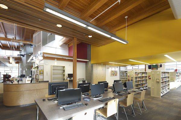 The trimmings of a modern library.  Salt Spring Island Public Library. Photo by John Cameron. www.johncameron.ca/