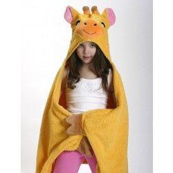 Zoocchini Toddler Bath Towel - The Jamie the Giraffe hooded towel makes bath and swim time a safari of fun,