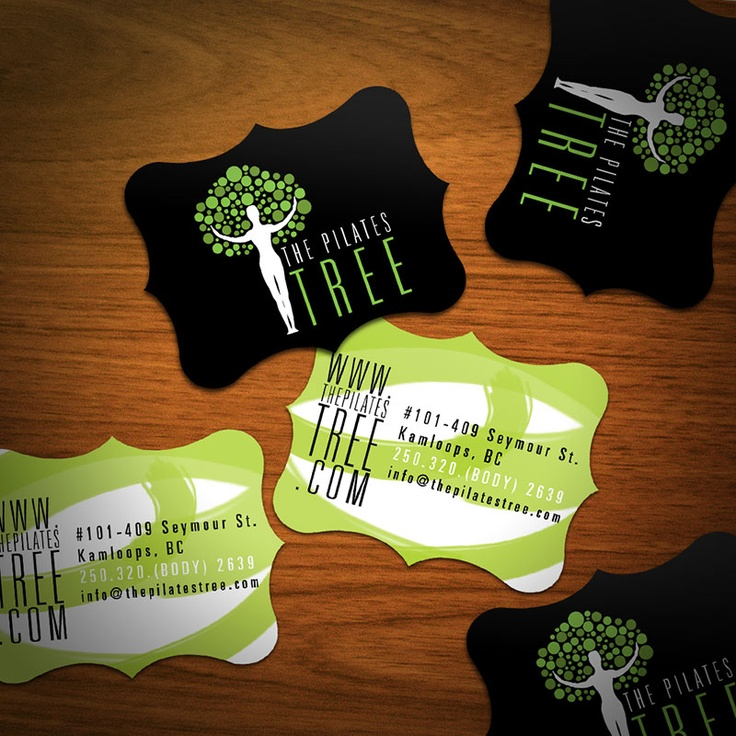 rad business card shapes
