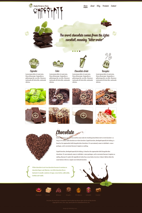 Choco - wordpress theme by Webvilla , via Behance