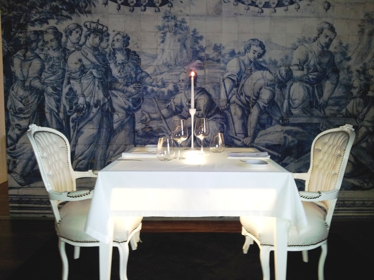 Stunning ambiance and extraordinary cuisine at Quinta São Luiz, in a former convent outside of Coimbra, #Portugal.