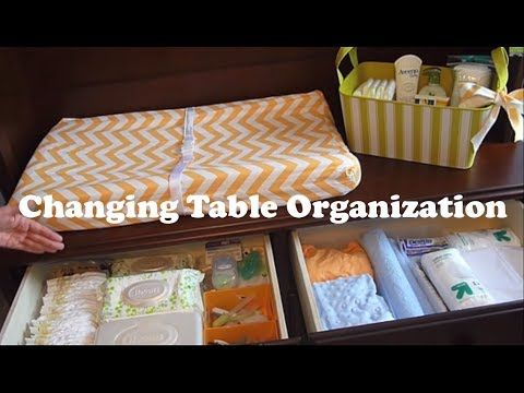 Changing Table Organization on a Budget!: How to organize a changing station - YouTube