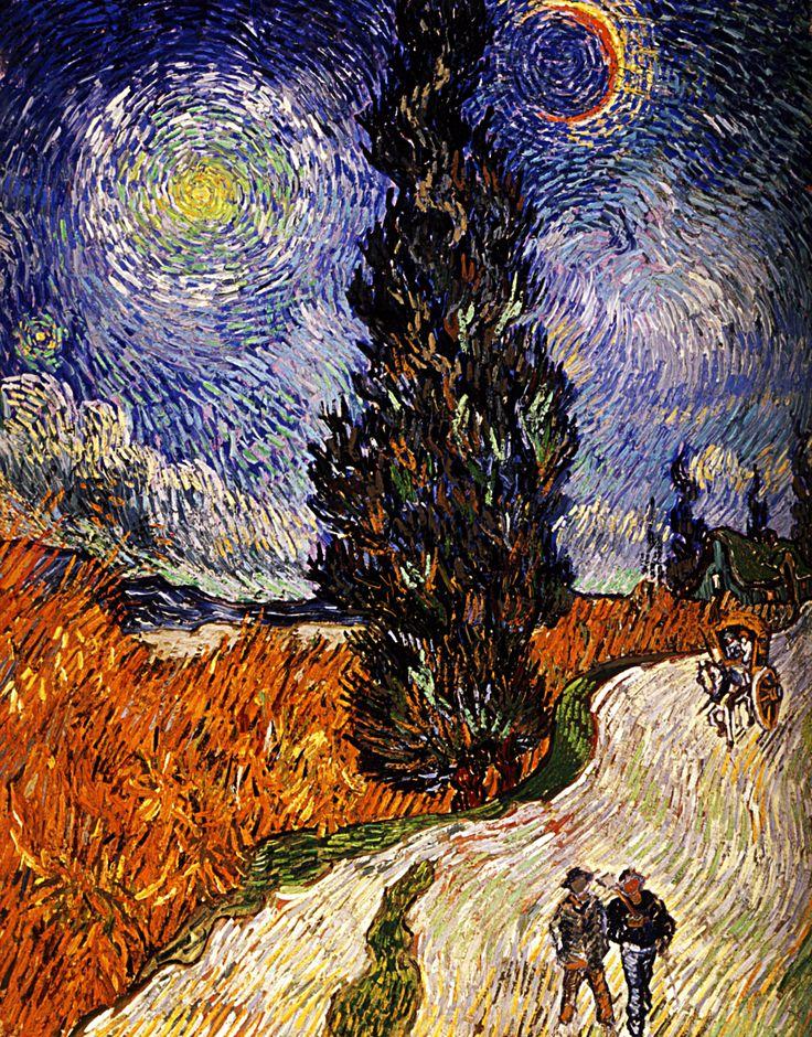 1890 Vincent Van Gogh Route De Campagne La Nuit En Provence Huile Sur Toile 92x73 Cm Otterlo