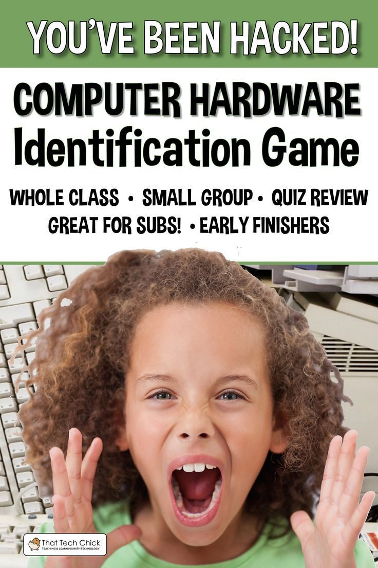 Computer Hardware Identification Game Youve Been Hacked Techie Technology Computers Class Classroom Parts Great For The End Of Year Activitiy Perfect Both Lab And Teacher