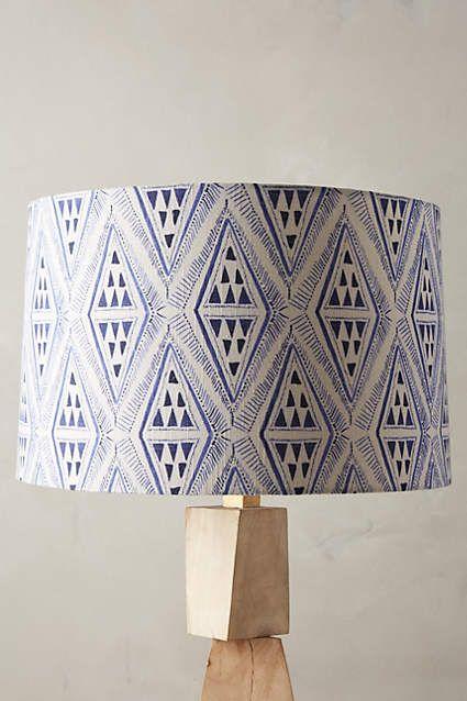 Cerulean Prisms Lamp Shade - anthropologie.com Just so good!