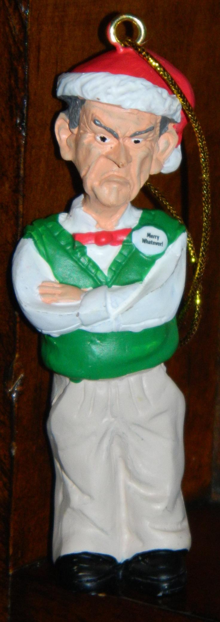 "Jeff Dunham's ""Walter"" Ornament, $12.00 #Christmas"