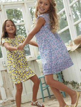 Little girls should look like little girls...not like mini adults. These dresses are gorgeous from Boden.