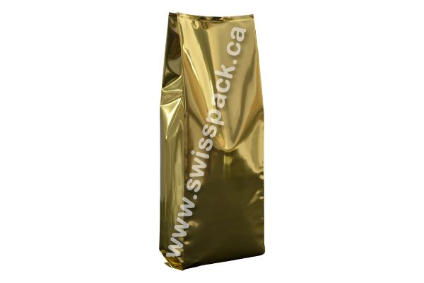 Shiny Gold Side Gusset Bags  Visit http://www.swisspack.ca/side-gusset-bags/